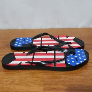 Pink 4th of July Edition Flip Flops
